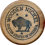 Wooden Nickel - Lange's Cafe (Pipestone, MN) – reverse