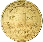Cent - Civil War Merchant Token - R.T. Kelly (Overstruck on 1859 Indian Cent) – obverse