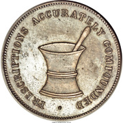 Civil War Merchant Token - Albert Ross Druggist (Cincinnati, Ohio) – obverse