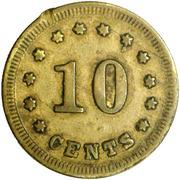 10 Cents - Civil War Merchant Token - D.L. Lapsley & Co (Nashville, TN) – reverse