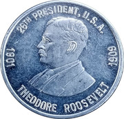 Token - Theodore Roosevelt – obverse