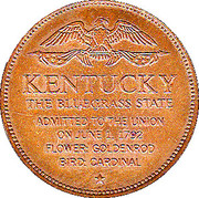 Token - Shell's States of the Union Coin Game, Version 1 - Bronze Collector's Coin Set (Kentucky) – reverse