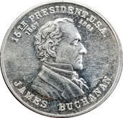 Token - James Buchanan – obverse