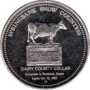 Dairy County Dollar - Woodstock, Ontario – reverse