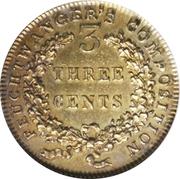 3 Cents - Hard Times Token - Feuchtwanger – reverse