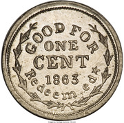Cent - Civil War Merchant Token - Frank L. Gay Bookseller (Providence, RI) – reverse