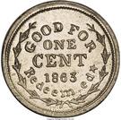 Civil War Token - Wapakoneta Ohio, Sanitary Fair – reverse