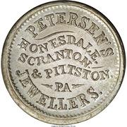 Civil War Merchant Token - Petersen's Jewellers (Pennsylvania) – reverse