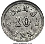 10 Cents - Civil War Merchant Token - Sam's Inn (Boston, MA) – obverse