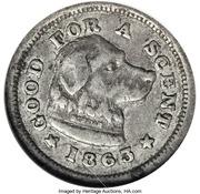 10 Cents - Civil War Merchant Token - Sam's Inn (Boston, MA) – reverse