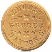 Cent - Civil War Merchant Token - J. Durst Grocer (Dayton, OH) – obverse
