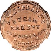 Cent - Civil War Merchant Token - A.W. Copland Steam Bakery (Detroit, MI) – obverse