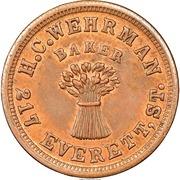 Civil War Merchant Token - H.C. Wehrman Baker (Cincinnati, OH) – obverse