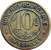 10 Centimes - A Consommer – obverse