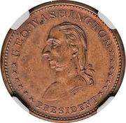 Civil War Merchant Token - T. Brimelow Druggist (New York, NY) – reverse