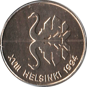 Token - XVIII Helsinki 1994 – reverse