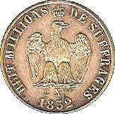Napoléon III 2 Xbre 1852 – reverse