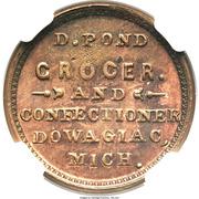 Civil War Merchant Token - D. Pond Grocer (Dowagiac, MI) – obverse