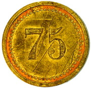 75 Centimes - Consommation – reverse