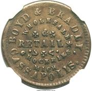 Civil War Merchant Token - Boyd & Bradly (Cassopolis, MI) – obverse
