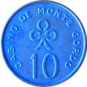 10 Escudos - Casino de Monte Gordo – reverse