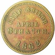 Civil War Token - Pittsburgh Landing Camp Shiloh – obverse
