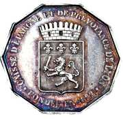 Token - Savings bank of Lyon, founded in 1822 – obverse