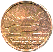 Token - Exposition Coloniale Internationale (Amerique) – reverse