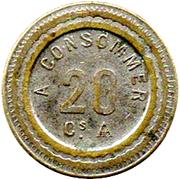 20 Centimes - JM – reverse