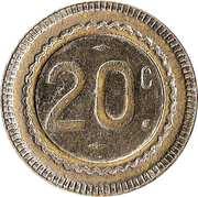 20 Centimes (sailboat) – reverse