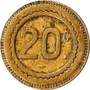 20 Centimes (Mug of beer) – reverse
