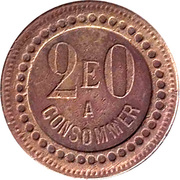 20 Centimes - A Consommer (E) – obverse
