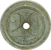 20 Centimes - H. Babarit – reverse