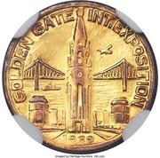 So-called-dollar - Golden Gate Exposition - Charbneau - Pacifica – reverse