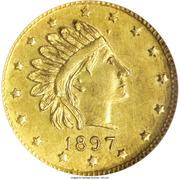 1 Pinch - Alaska Gold (Head Right 16 Stars) – obverse