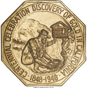 Medal - Gold Discovery Centennial – obverse