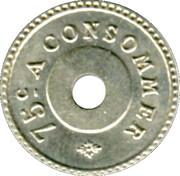 75 Centimes - Dourdou (Paris) – reverse