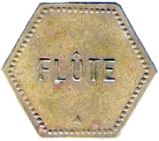 Token - Flute (Union Сoopérative; Saulnes) – reverse