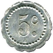 5 Centimes - Société Coopérative de Nondkeil (Ottange) – reverse
