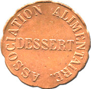 Token - Dessert Association Alimentaire (Ville de Dole) – reverse