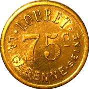 75 Centimes - Loubet La Garenne – obverse