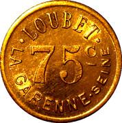 75 Centimes - Loubet La Garenne – reverse