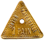 1 Pain - Cooperative Ouvriere N°3 (Lievin) – reverse