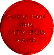 1 City Bus Fare - Webb's City (St. Peterburg, FL) – reverse