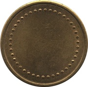 Coffee Machine Token (Blank with 42 beads; 23 mm) – obverse
