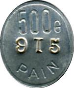 500 Grammes Pain - Boulangerie coopérative des chemins de Fer (Tours) – reverse