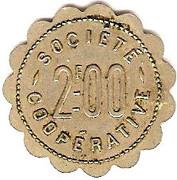 2 Francs - Société Coopérative (Amplepuis) – reverse