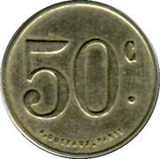 50 Centimes - Société Coopérative des Agents de la Compagnie P.I.M (Chambery) – reverse