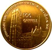 100 Griffels - Malines – reverse