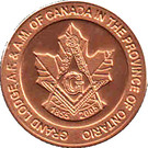 Token - Grand Lodge A.F. & A.M. of Canada in the Province of Ontario (150th Anniversary) – obverse